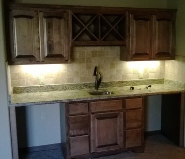 Custom Cabinets done by professionals in Bixby.