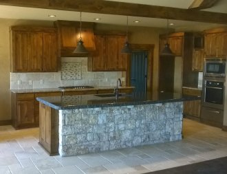 Picture of a beautiful full custom built kitchen in Tulsa.